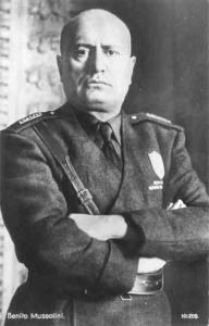 Benito Mussolini. Fundador del Partido Nacional Fascista Italiano.