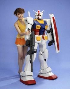 Gundam de 1,5 metros de alto.